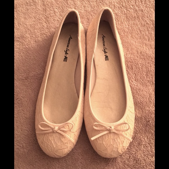 e3f9b2472 American Eagle By Payless Shoes - Lace Ballet Flats, Cream Color Size 7.5